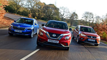 Nissan Juke vs Skoda Kamiq vs SEAT Arona
