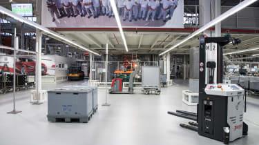 Car factory of the future - Autonomous forklifts