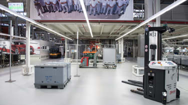 Car factory of the future - Autonomous forklifts