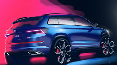 Skoda Kodiaq vRS - rear sketch