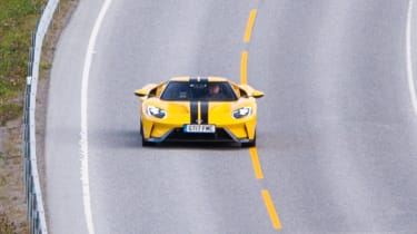 Ford GT Norway road trip - front action