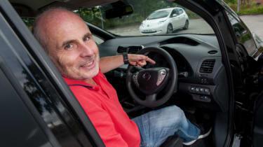 EV driving school - Nissan Leaf - instructor