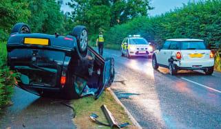 Uninsured driver car crash