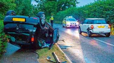 Uninsured driver car crash