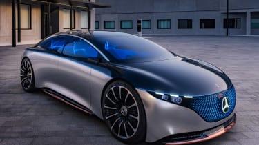 Mercedes Vision EQS concept - front static