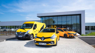 Renault Pro+ van, Clio RS and Megane RS