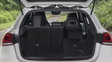 Mercedes A-Class boot seat folded