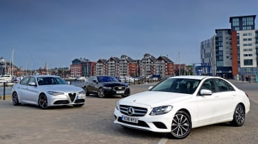 Mercedes C-Class vs Alfa Romeo vs Jaguar XE