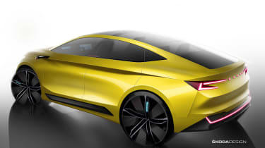 Skoda Vision iV concept - rear sketch