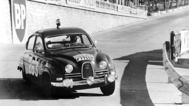 Saab 96 rally stage corner