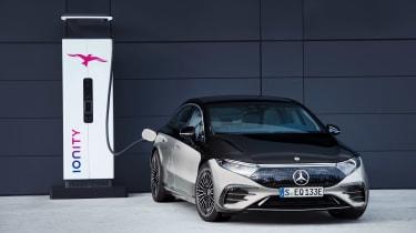 Mercedes EQS - front charging