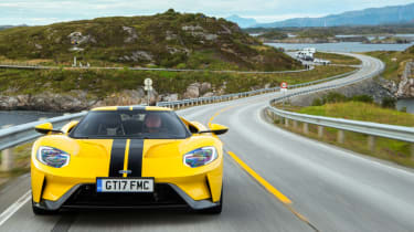 Ford GT Norway road trip - front