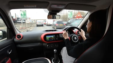 Renault Twingo long-termer - interior Cat