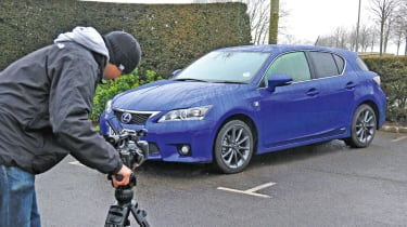 Lexus CT200h front static