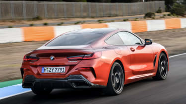 BMW 8 Series - track rear action