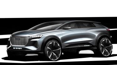 Audi Q4 e-tron concept - side sketch