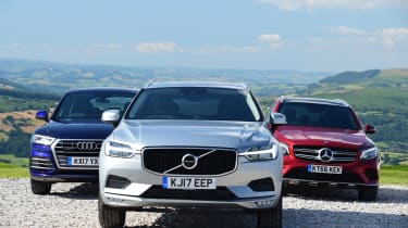 Volvo XC60 vs Audi Q5 vs Mercedes GLC - head-to-head