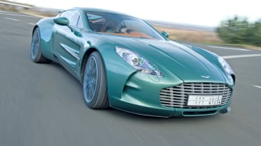 Aston Martin One-77 front cornering