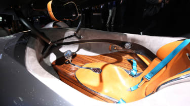 Mercedes EQ Silver Arrow interior wood