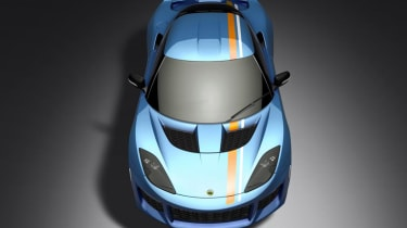 Lotus Evora 400 Blue Orange Edition - above