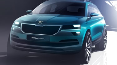 Skoda Karoq front end sketch