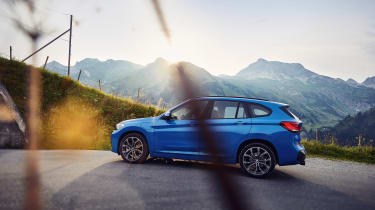 BMW X1 and X2 PHEV - side shot