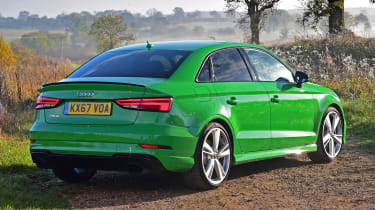 audi rs 3 saloon static rear