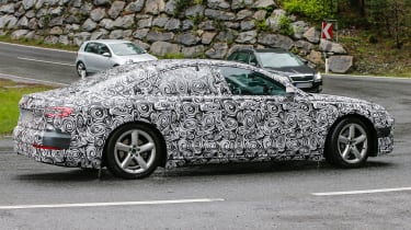New Audi A8 spies side