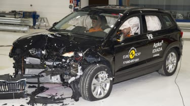 Skoda Karoq - Frontal Offset Impact test - after crash