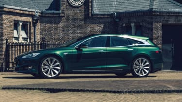 Tesla Model S Shooting Brake estate side profile