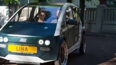 Flax fibre car - dynamic drive