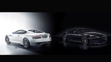 Aston Martin DB9 Carbon Black - white