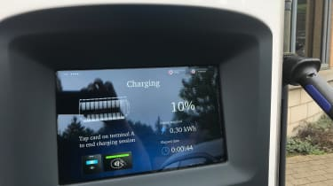 Nissan Leaf long termer first report - charging station