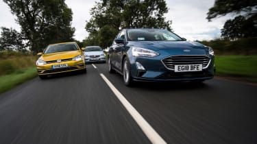 Ford Focus vs Vauxhall Astra vs Volkswagen Golf