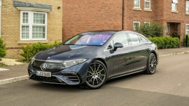 New Mercedes EQS 2021 review - front static