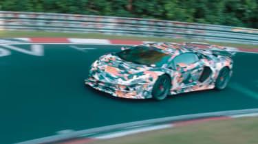 Lamborghini Aventador SVJ teaser vid side
