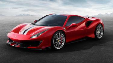 New Ferrari 488 Pista - front
