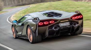 Lamborghini Sian - rear tracking