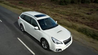 Subaru Outback birds-eye view