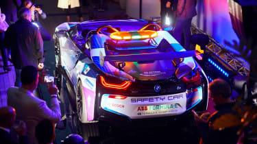 BMW i8 Roadster Formula E safety car - rear reveal