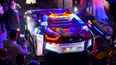 BMW i8 Roadster Formula E safety car - rear reveal