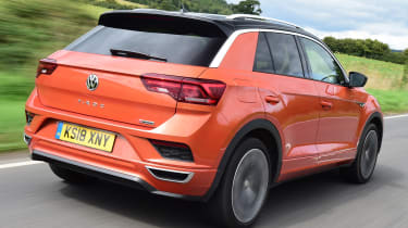 vw t-roc tracking rear