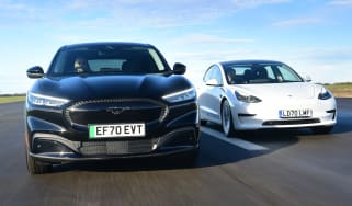 Ford Mustang Mach-E vs Tesla Model 3 - main