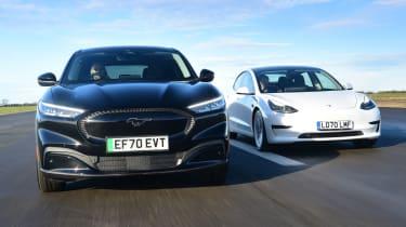 Ford Mustang Mach-E vs Tesla Model 3 - main