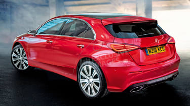 Mercedes A-Class - rear red (watermarked)