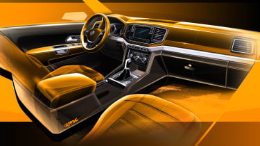 Volkswagen Amarok sketch - dash