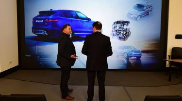 Jaguar Land Rover visit - large image