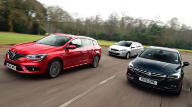 Renault Megane ST vs Vauxhall Astra ST vs Peugeot 308 SW - header