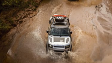 Land Rover Defender off road water