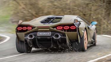Lamborghini Sian - rear cornering